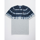 CHAMPION Script Embroidered Dip Dye Mens T-Shirt