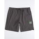 VISSLA Solid Black Mens Volley Shorts