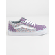 VANS 2-Tone Leopard Old Skool Diffused Orchid & Baby Blue Girls Shoes