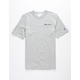 CHAMPION Embroidered Script Logo Heather Mens Pocket Tee