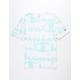 CHAMPION Allover Champion Script Mint Mens T-Shirt
