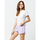 ADIDAS 3 Stripes Lavender Womens Dolphin Shorts