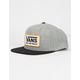 VANS Whitford Heather Gray Mens Snapback Hat