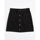 WHITE FAWN Twill Button Front Girls Skirt