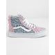 VANS 2-Tone Leopard Sk8-Hi Zip Chalk Pink & Baby Blue Girls Shoes