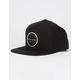 RIP CURL Mission Badge Black Mens Snapback Hat