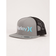 HURLEY One & Only Gray Mens Trucker Hat