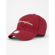 CHAMPION Classic Twill Burgundy Mens Strapback Hat