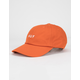 HUF Essentials Orange Mens Strapback Hat