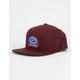 RVCA Contrast Wine Mens Snapback Hat