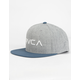 RVCA Twill II Grey Mens Snapback Hat