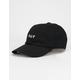 HUF Essentials Black Mens Strapback Hat