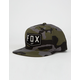 FOX Shield Camo Mens Snapback Hat
