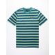 HUF Rockaway Blue Mens T-Shirt