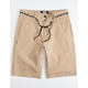 DGK Street Dark Khaki Mens Chino Shorts