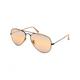 RAY-BAN Aviator Mirror Light Brown Polarized Sunglasses