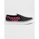 VANS Checkerboard Slip-On Carmine Rose Girls Shoes
