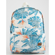 ROXY Sugar Baby Canvas Bright White Midnight Paradise Backpack