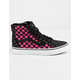 VANS Sk8-Hi Zip Checkerboard Carmine Rose Girls Shoes