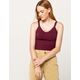 DESTINED V-Neck Burgundy Womens Crop Tank Top