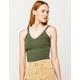 DESTINED V-Neck Green Womens Crop Tank Top