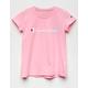 CHAMPION Screen Logo Pink Girls Tee