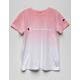 CHAMPION Dip Dye Logo Pink Girls Tee