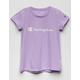 CHAMPION Screen Logo Lavender Girls Tee