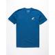 RIOT SOCIETY Shark Embroidery Navy Mens T-Shirt
