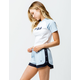 FILA Danita Light Blue & Navy Womens Dolphin Shorts
