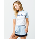 FILA Salma Light Blue & White Womens Crop Tee