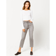 RSQ High Rise Gray Denim Womens Straight Leg Jeans