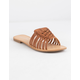 CITY CLASSIFIED Basket Weave Tan Womens Sandals