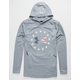 UNDER ARMOUR Freedom Gray Mens Lightweight Hoodie