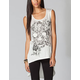 EYESHADOW Skull Womens Hi Low Tunic