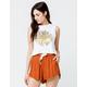 ELEMENT Sunflower Womens Crop Muscle Tank Top