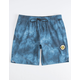 VISSLA Solid Blue Mens Volley Shorts