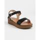 SODA Nebula Platform Black Womens Flatform Sandals
