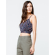 IVY & MAIN Ditsy Floral Tie Back Womens Crop Cami