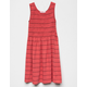 FULL TILT Smocked Stripe Coral Girls Dress