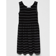 FULL TILT Smocked Stripe Black & White Girls Dress