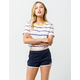 VANS Sassed Navy Womens Dolphin Shorts