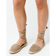 SODA Lace Up Taupe Womens Espadrille Flatform Sandals