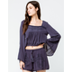 COCO & JAIMESON Bell Sleeve Womens Top