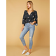 LEVI'S Wedgie High Rise Blue Spice Womens Skinny Ripped Jeans