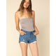 LEVI'S 501 Dark Wash Womens Ripped Denim Shorts