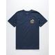 VANS Mini Dual Palm III Navy Mens T-Shirt