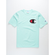 CHAMPION C Applique Logo Mint Mens T-Shirt