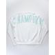 CHAMPION Reverse Weave Oversized Arch Logo White Mens Sweatshirt