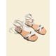DOLCE VITA Canta White Womens Sandals